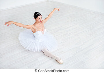 Dance - Beautiful young ballerina in pointe