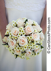bridal bouquet - Bridal bouquet made from white roses