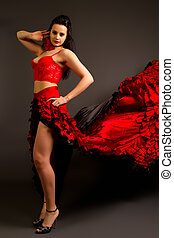 photo of the lady in gypsy costume