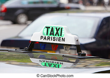 Paris taxi sign in Paris