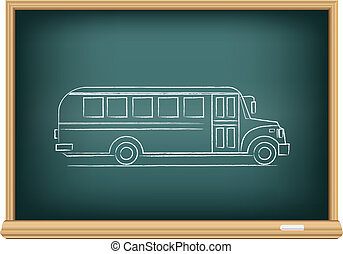 board school bus side view