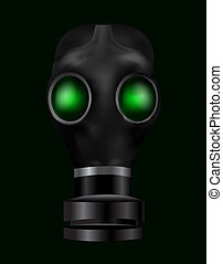 Illustration of realistic gas mask