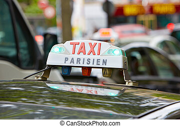 Parisian taxi in Paris
