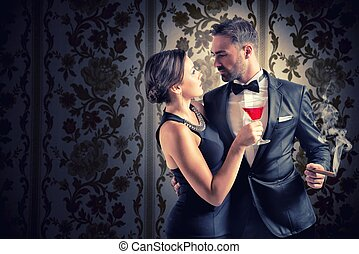 Romantic couple - Concept of love with romantic couple...