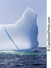 St Anthony iceberg, Newfoundland - iceberg with blue crack;...