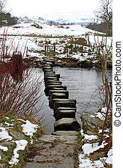 Stepping stones across a stream
