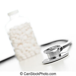Medical Supplies - Medical supplies isolated on a bright...
