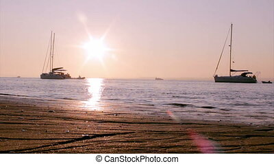 Ria Formosa-Sunset Boat Silhouette - Boats and people...