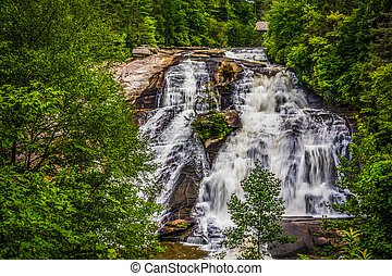 View of High Falls, in Dupont State Forest, North Carolina....