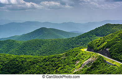 View of the Blue Ridge Parkway and the Appalachian Mountains...