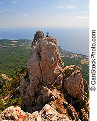 Ai-Petri Mountains, Crimea - High rocks Ai-Petri of Crimean...