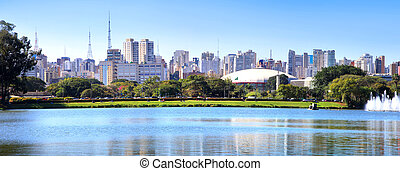 Sao Paulo panoramic view - Panoramic view of Sao Paulo city...
