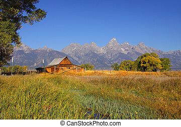 Mormon barn - Old Mormon barn in Grand Tetons