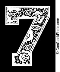 embroidery lace number 7