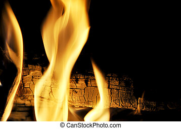 Leaping flames of fire