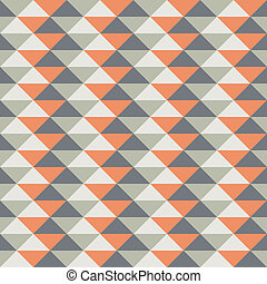 Seamless pattern with abstract decoration