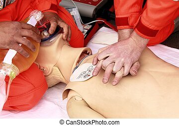 resuscitation performed by health care professionals to...