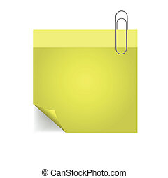 yellow note with pin