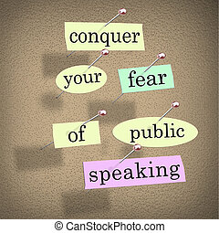 Conquer Your Fear of Public Speaking Bulletin Board Overcome...