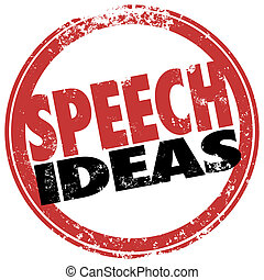 Speech Ideas Round Red Stamp Suggestions Advice Information