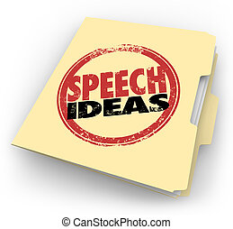 Speech Ideas Stamp Manila Folder Public Speaking Advice Tips...