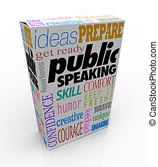 Public Speaking Words Product Package Box Training Help...