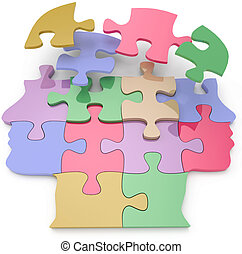 Couple man woman sex puzzle