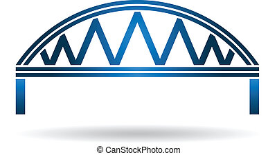 Arc Blue Bridge Logo - Arc Blue Bridge warren style