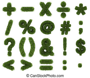 Grass symbols mathematics