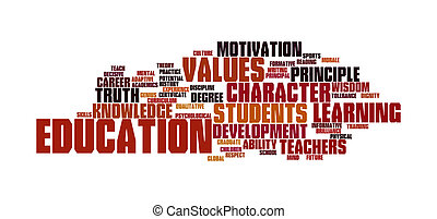 Education word cloud - collage illustrating the concept of...
