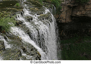 The Top of Webster's Falls - The top of Webster's Falls, a...