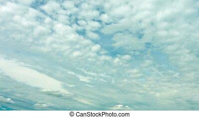 Altocumulus clouds in sky timelapse