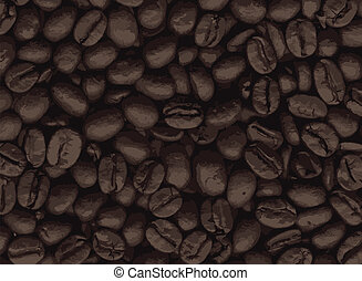 Coffee Beans - A collection of fresh coffee beans