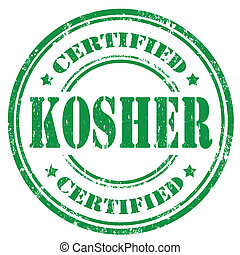 Kosher-stamp - Grunge rubber stamp with text Kosher ,vector...