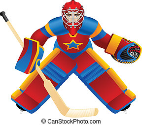 Goalie - Realistic ice-hockey goalkeeper for hockey game