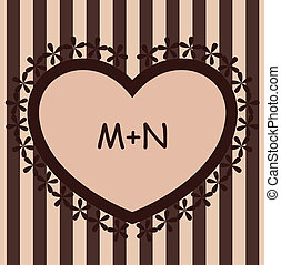 Brown background with heart