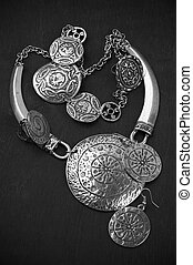 Ethnic jewelry - Collection of silver ethnic jewelry on...