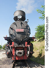 locomotive of narrow gauge railway Sargan Eight