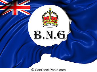 Flag of British New Guinea 1888-1906 Close Up