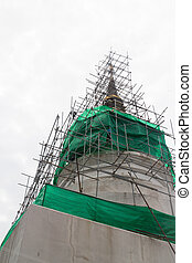 Reconstruct pagoda in phra singha temple Chiang Mail,...