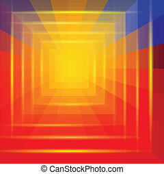 Abstract Colorful Geometric Tunnel Background Vector...