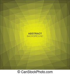 Abstract Yellow Geometric Tunnel Background Vector...