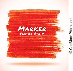 Red Marker Stain
