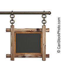3d retro wooden board