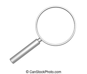 Loupe - 3d loupe - object over white