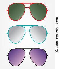 Retro gold sunglasses