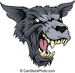 Mean wolf or werewolf