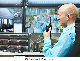 guard of security video surveillance - security guard...