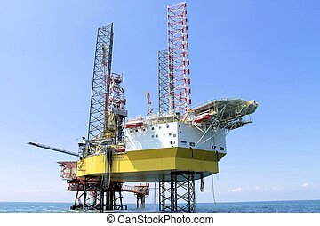 platform  - Oil  platform in international water