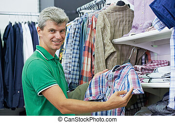 man shopping clothes